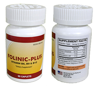 Folinic-Plus - Vitamin B6, B12, B9